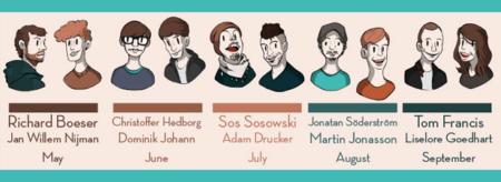 Super Game Jam - Cast Graphic