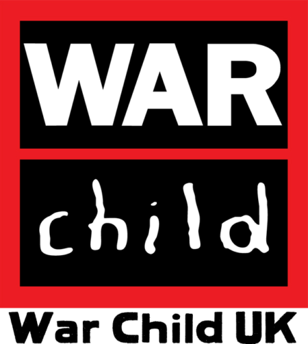 War Child UK with writing
